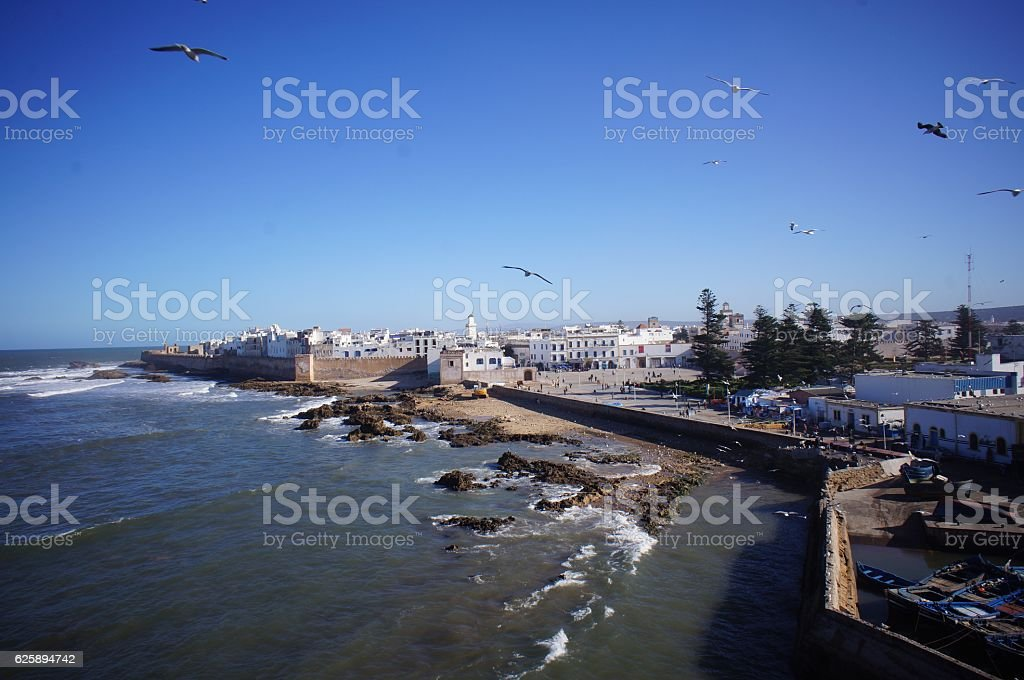 Essaouira view from the castle stock photo