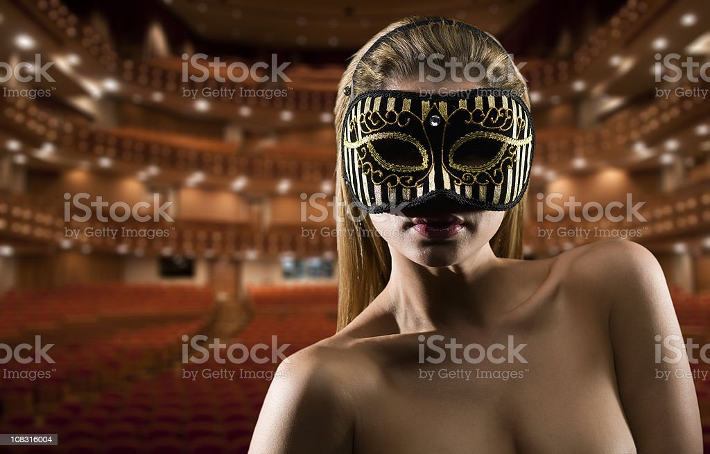 Essay at the theater royalty-free stock photo