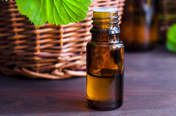 essenziale di olio di geranio - oli, aromi e spezie foto e immagini stock