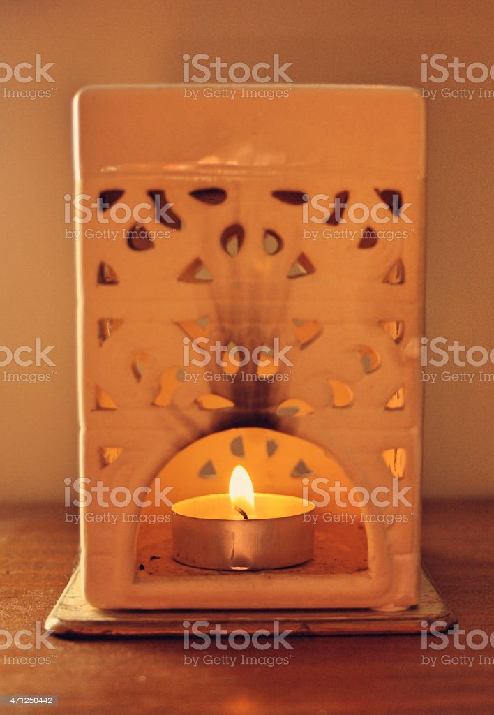 Essential Oil Candle Holder stock photo