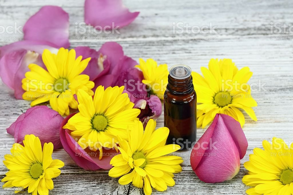 Essential oil from sweet smelling flowers royalty-free stock photo