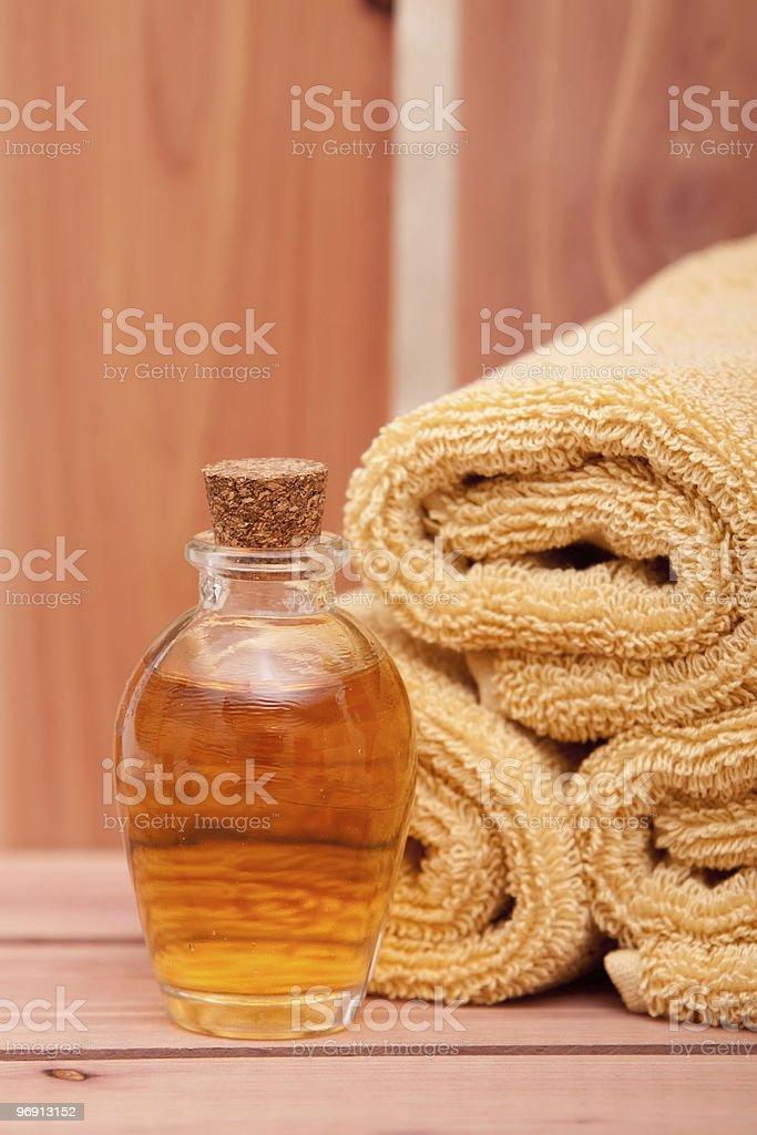 Essential oils spa decor royalty-free stock photo