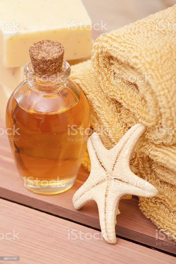 Essential oils spa decor royalty-free stock photo