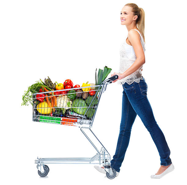 Essentials for healthy living stock photo