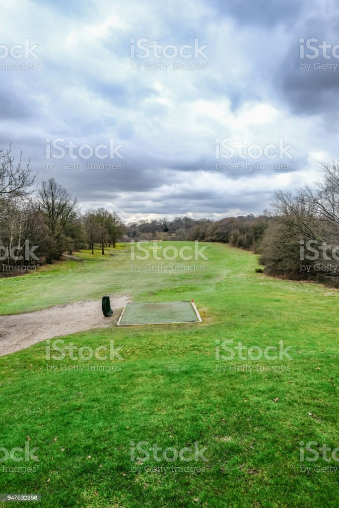 Essex countryside golf course. stock photo