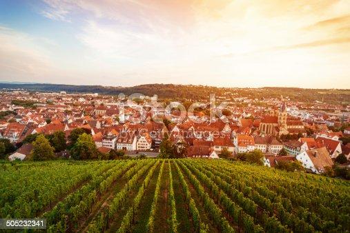 istock Esslingen am Neckar, Germany - view from the castle 505232341
