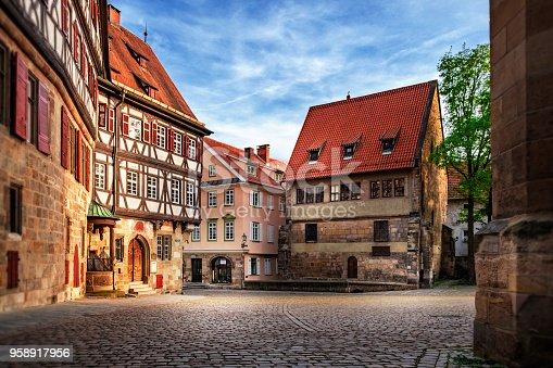 istock Esslingen medieval buildings 958917956