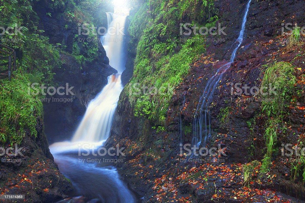 Ess-na-Laragh Waterfall - Glenariff, County Antrim, Northern Ireland royalty-free stock photo