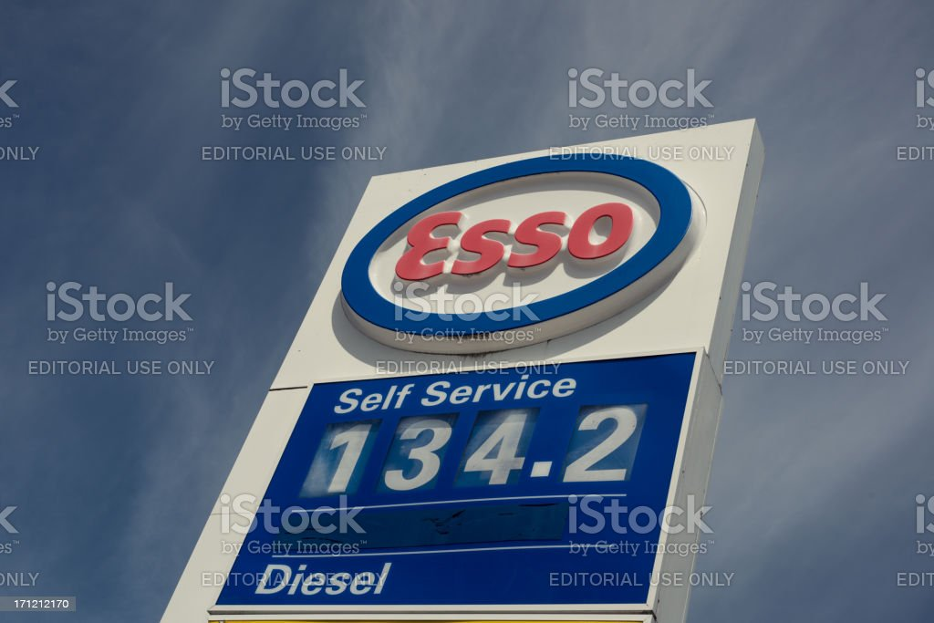 Esso Gas Station stock photo