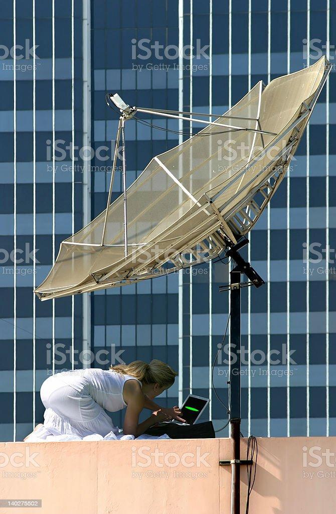 Establishing communication royalty-free stock photo
