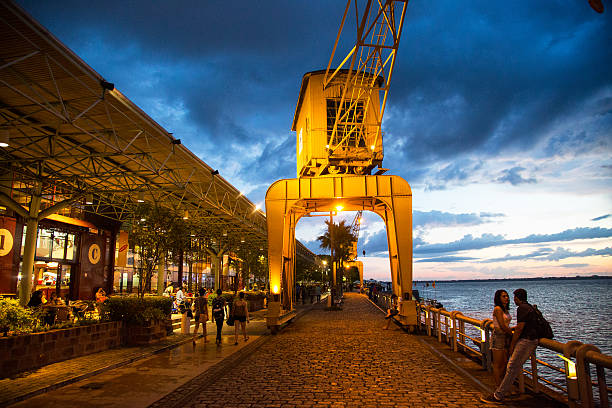Estacao das Docas in Belém, Pará State, Brazil stock photo