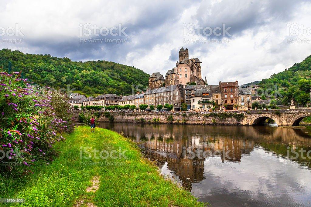 Estaing, (Aveyron),France stock photo