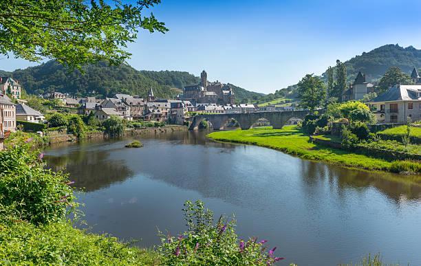 Estaing Medieval Village stock photo