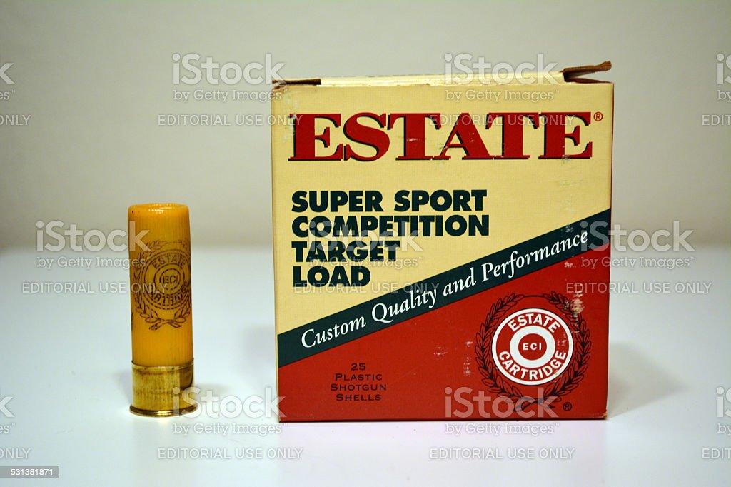 Estate 20 Gauge Shotgun Shells stock photo