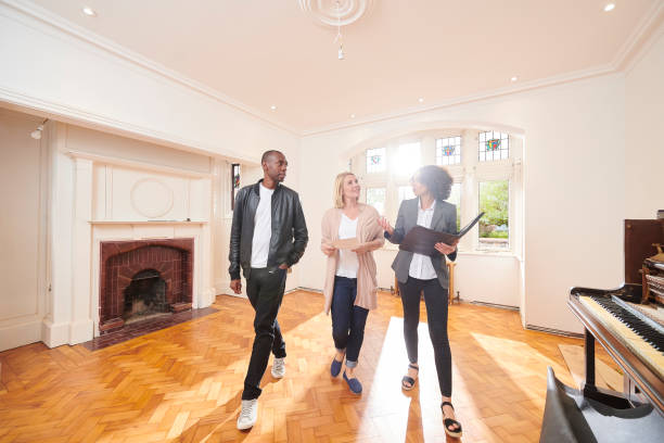 estate agent housebuying viewing stock photo