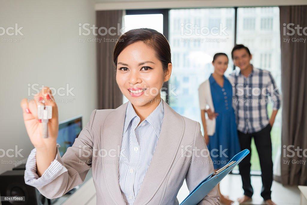 Estate agent stock photo