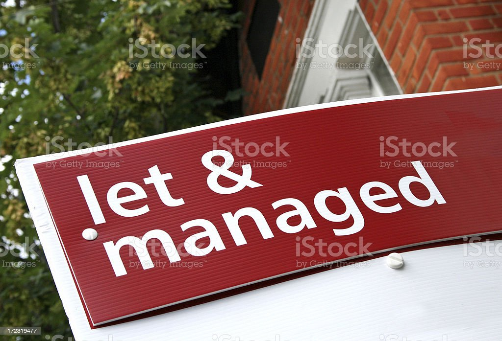Estate Agent Sign royalty-free stock photo