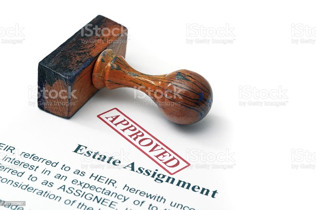 Estate assignment - approved stock photo