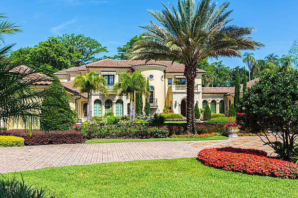 immobilien - palmengarten stock-fotos und bilder