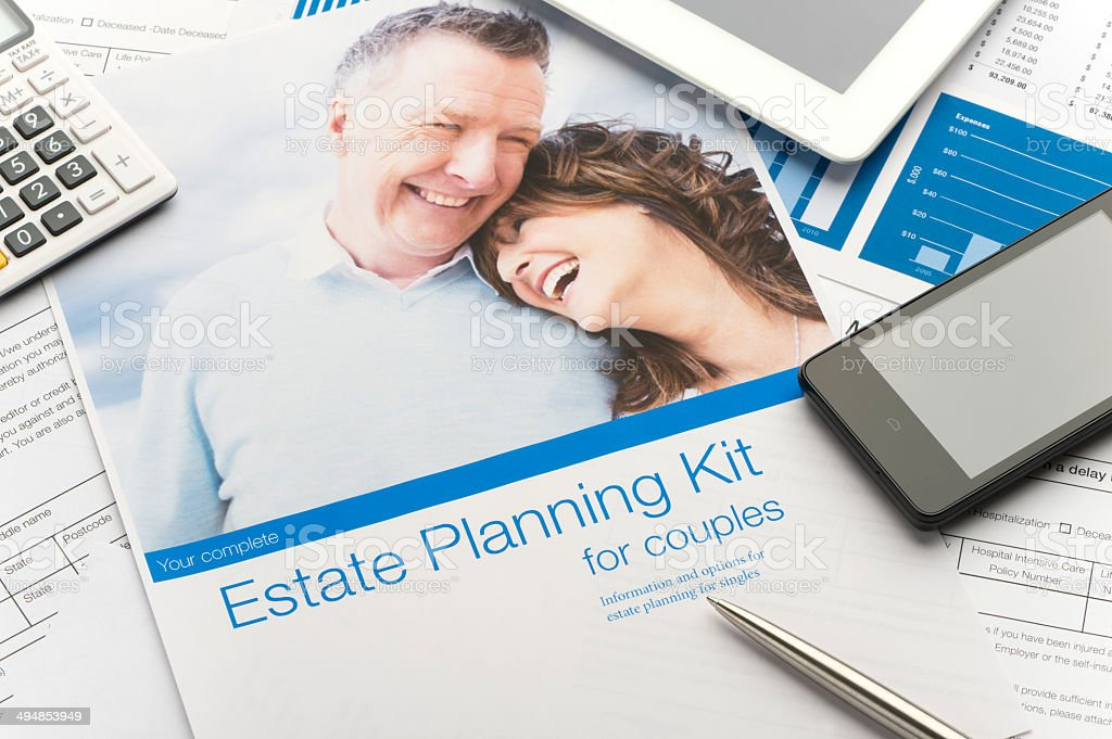 Estate planning document stock photo