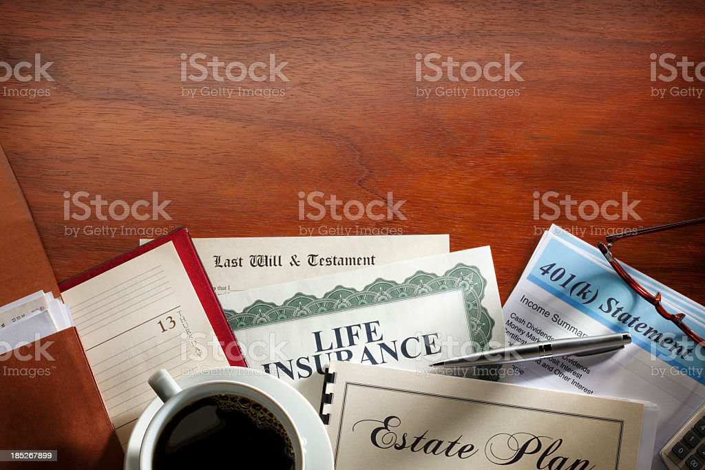 Estate Planning Documents stock photo