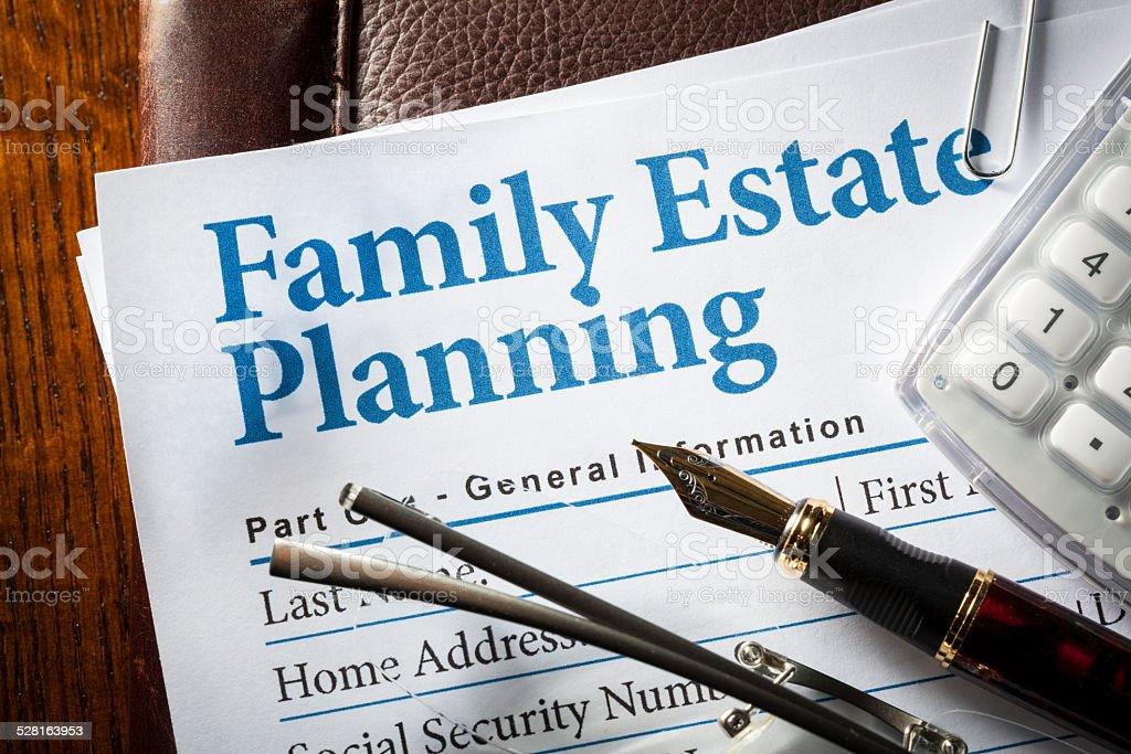 Estate Planning stock photo