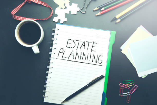 estate planning text on notepad - will stock photos and pictures