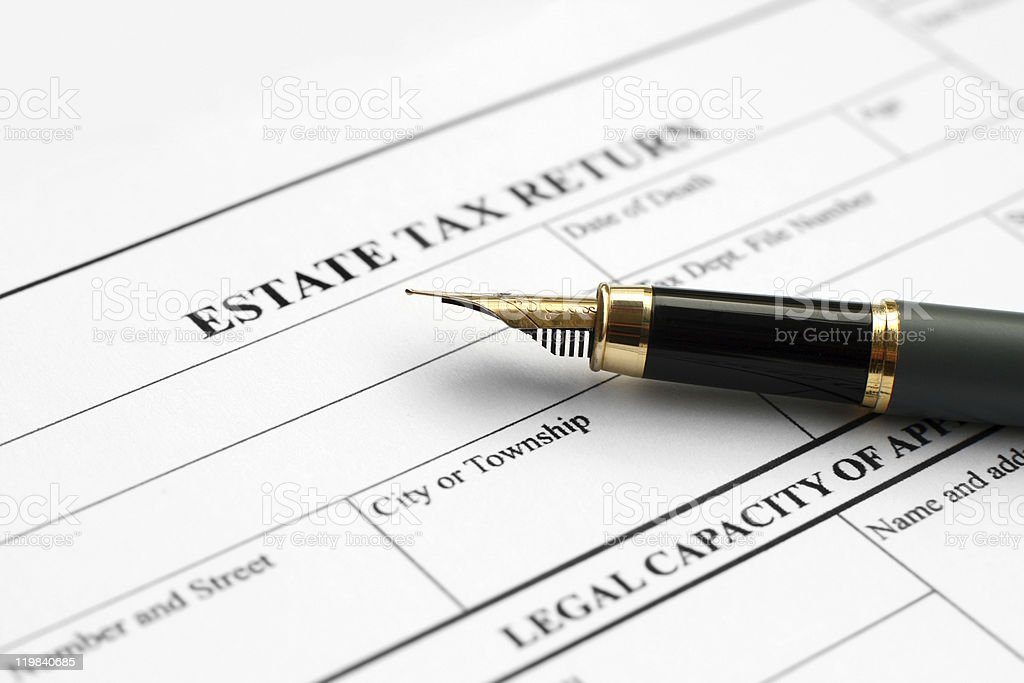 Estate tax return royalty-free stock photo