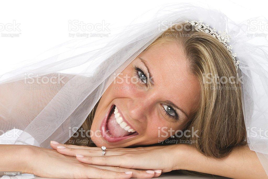 estatic bride royalty-free stock photo