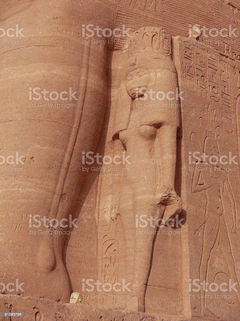 Estatua de Nefertari royalty-free stock photo