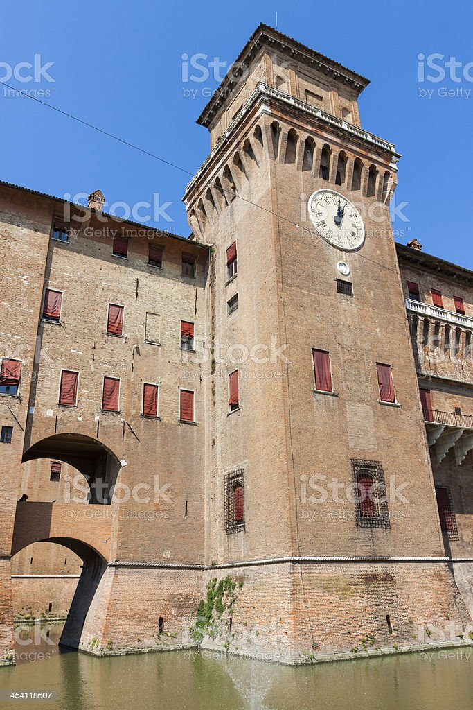 Estense Castle. Ferrara. Emilia-Romagna. Italy royalty-free stock photo