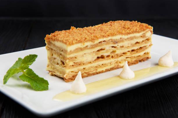 Esterhazy Torte auf dem Teller – Foto