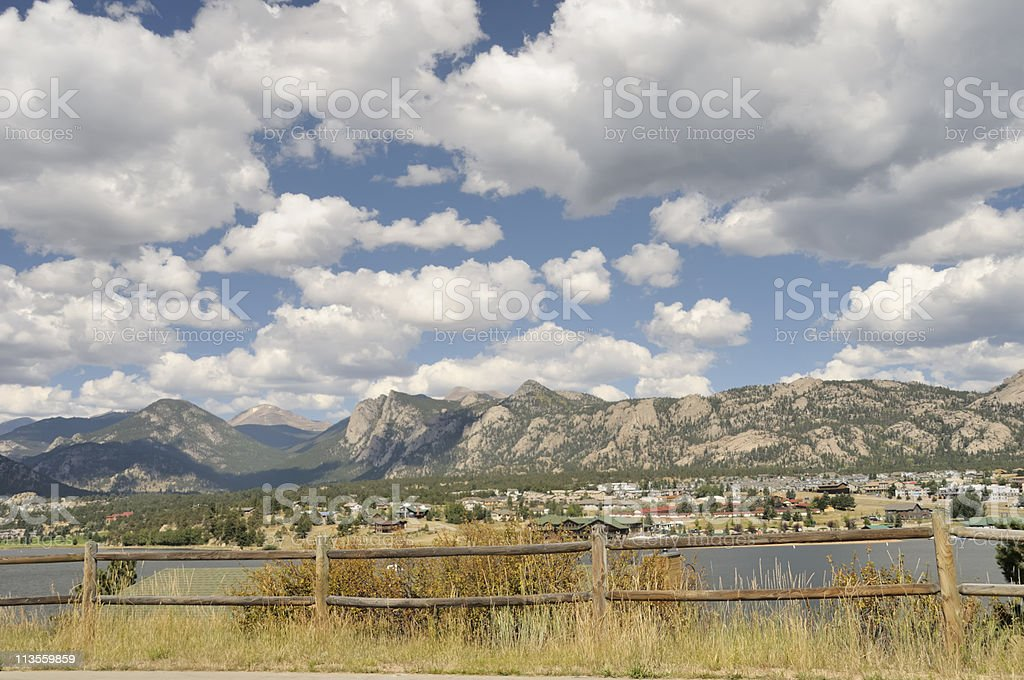 Estes Park, Colorado stock photo