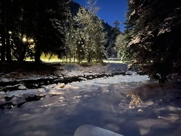 Estes Park @ Night stock photo