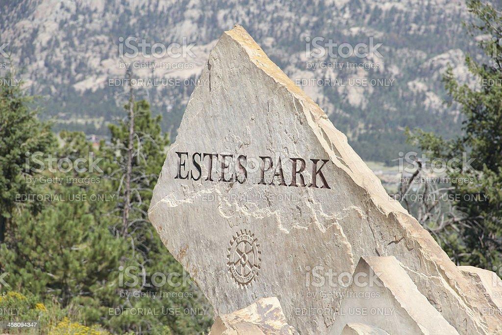 Estes Park stock photo