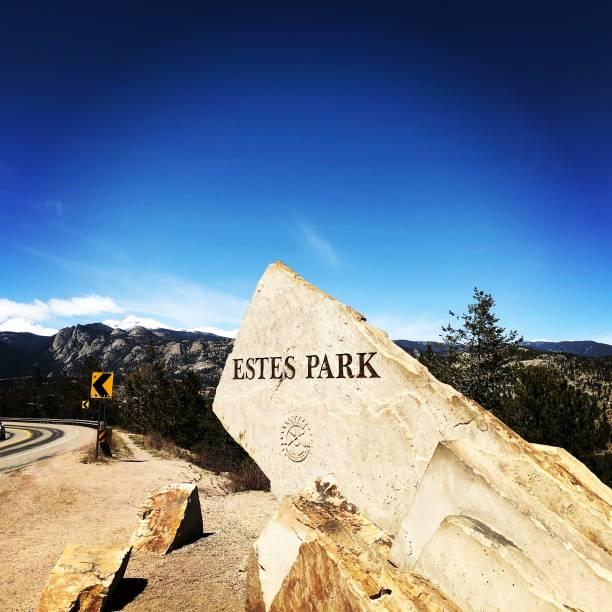 estes park - estes park foto e immagini stock