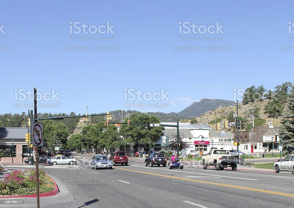 Estes Park, Town of stock photo