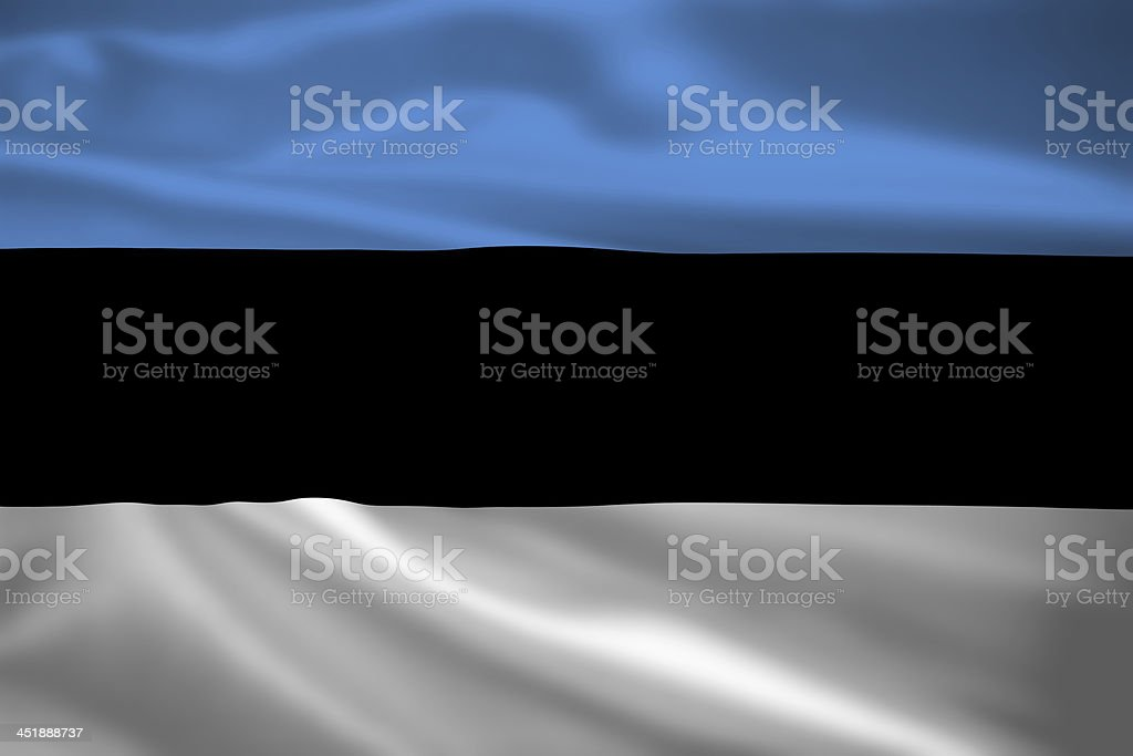 Estonia flag blowing in the wind stock photo