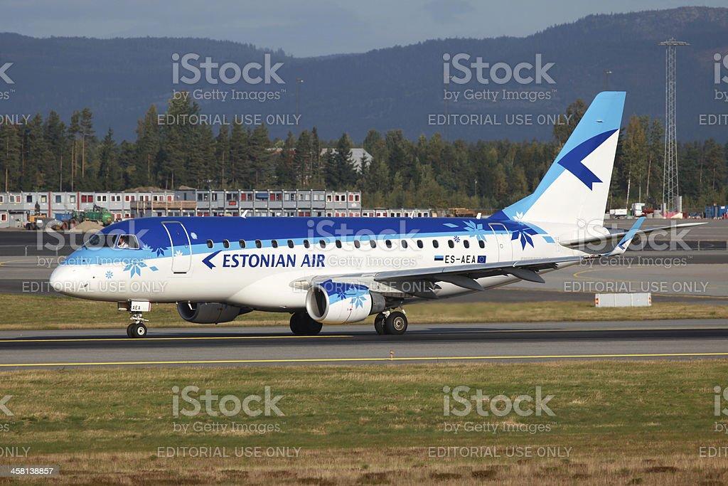 Estonian Air Embraer 170 royalty-free stock photo