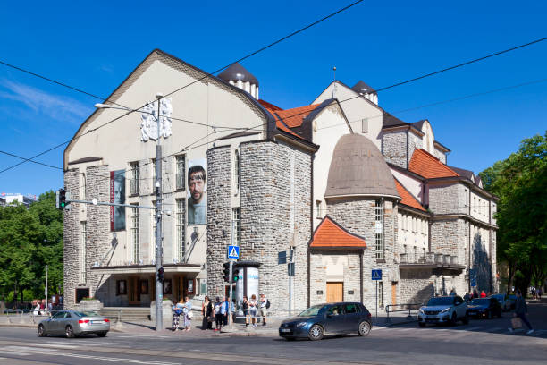 Estonian Drama Theatre in Tallinn stock photo