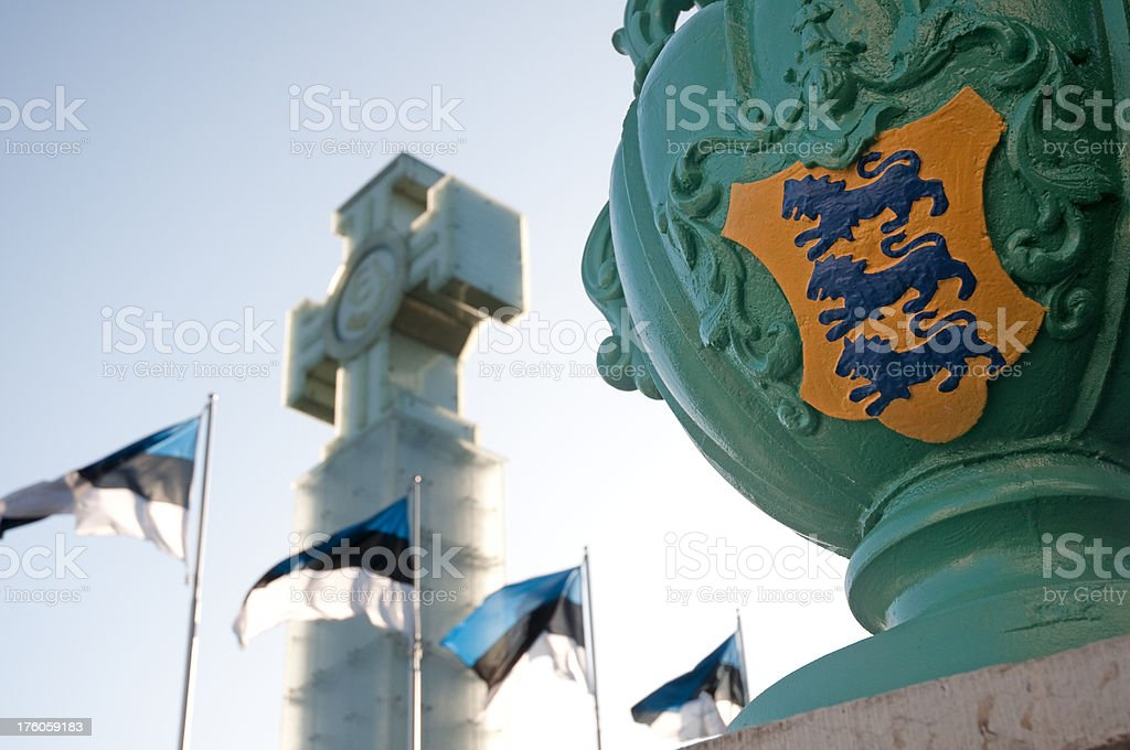 Estonian Freedom Monument stock photo