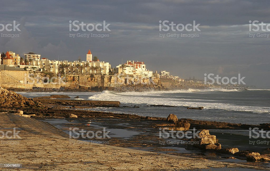Estoril Beach, Portugal stock photo