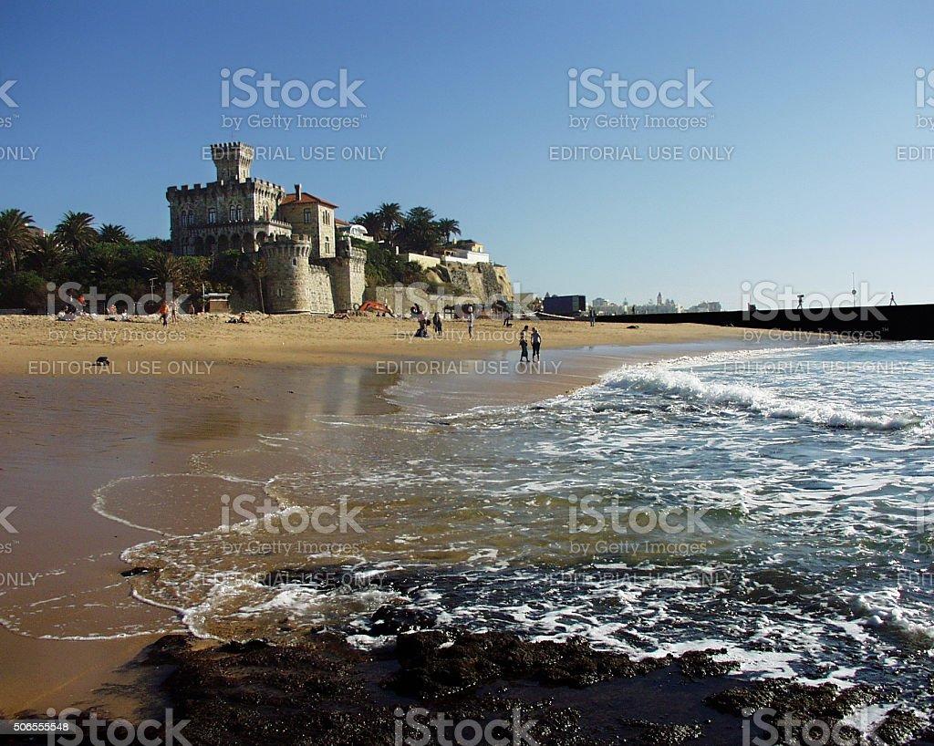 Estoril castle near Lisbon, Portugal stock photo