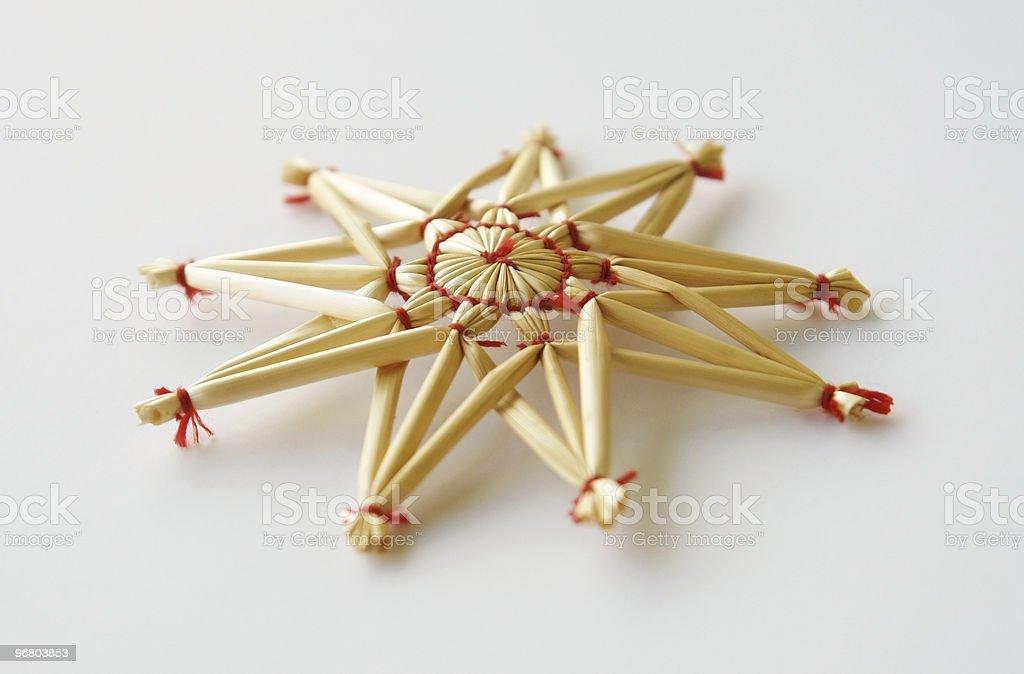 Estrella de navidad stock photo