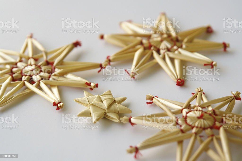Estrellas de Navidad stock photo