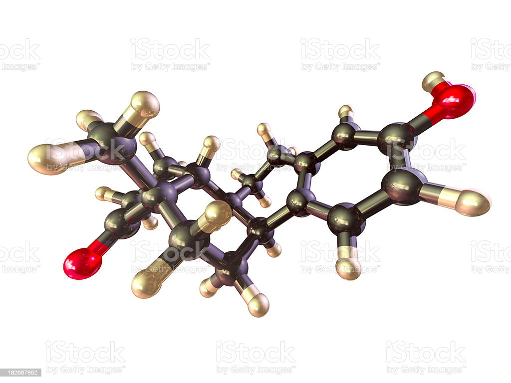 Estrogen - Estrone royalty-free stock photo