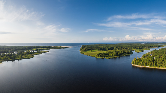 Estuary of Lielupe river at the Baltic Sea