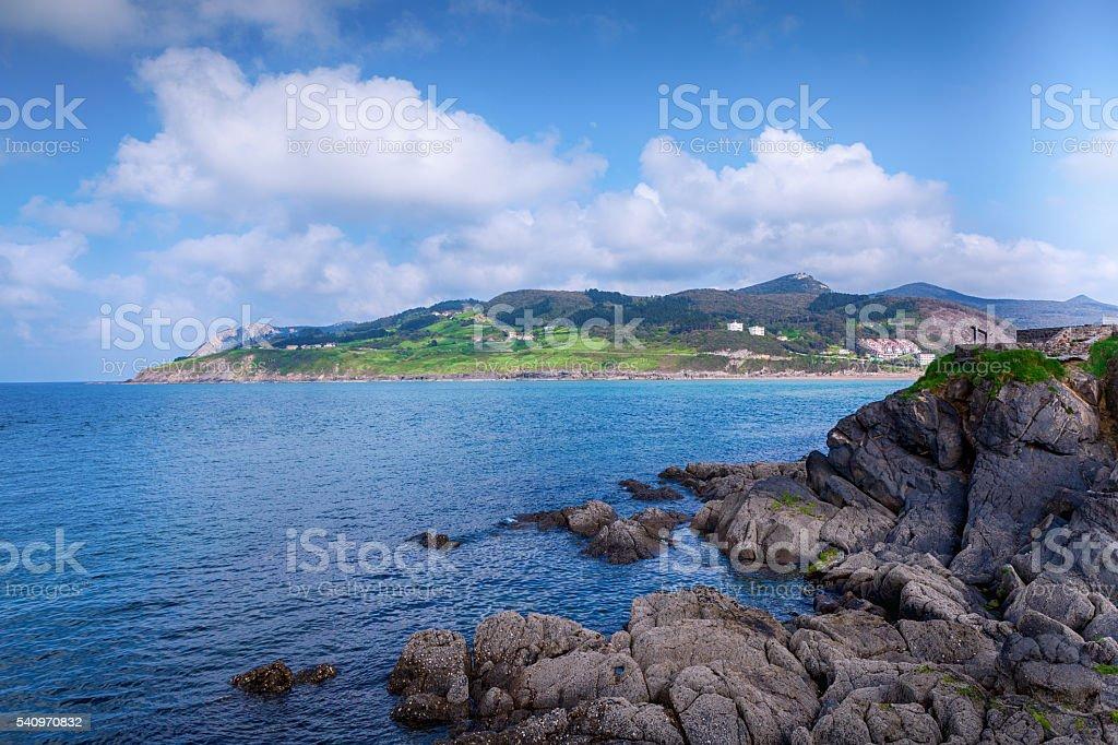 Estuary of Urdaibai. Mundaka. Basque Country. stock photo