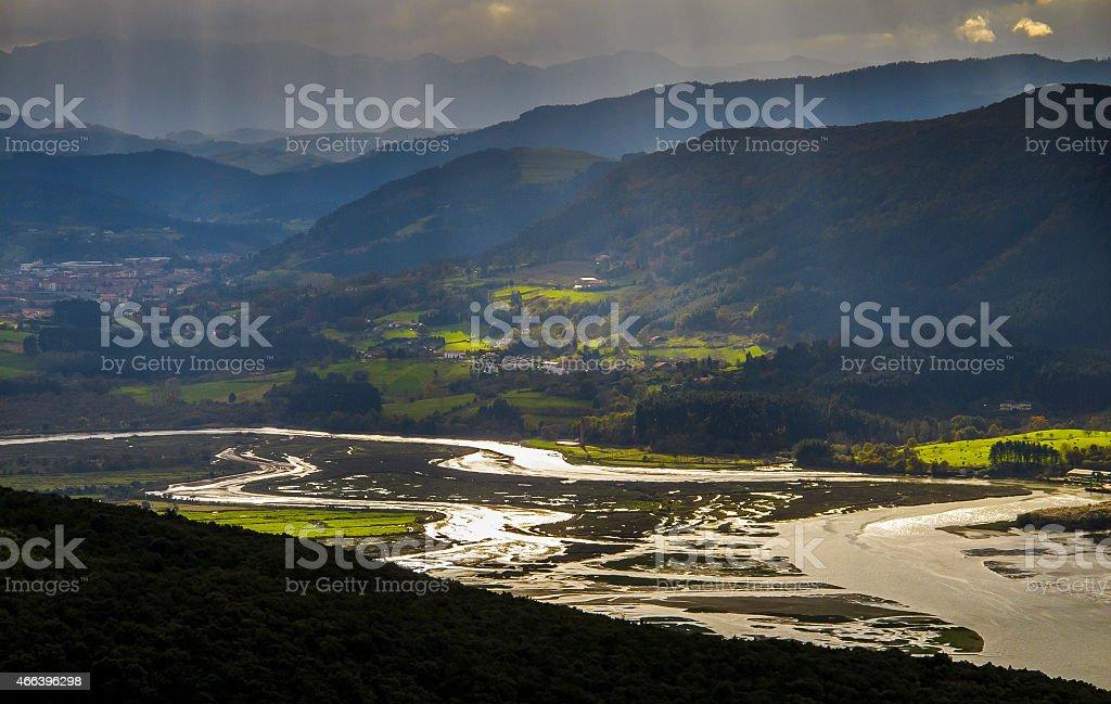 Estuary of Urdaibai. Mundaka. Basque Country. Vizcaya. Spain. Europe. stock photo
