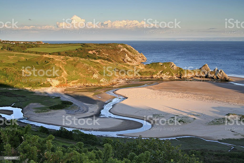 Estuary royalty-free stock photo
